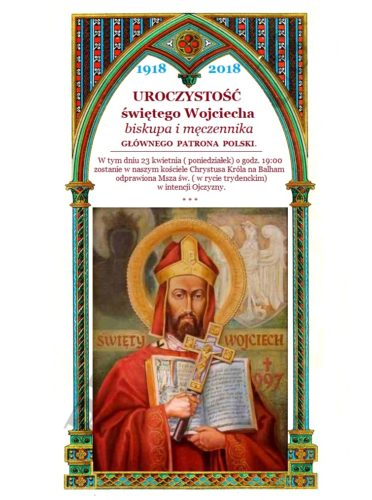 Uroczystość Świętego Wojciecha