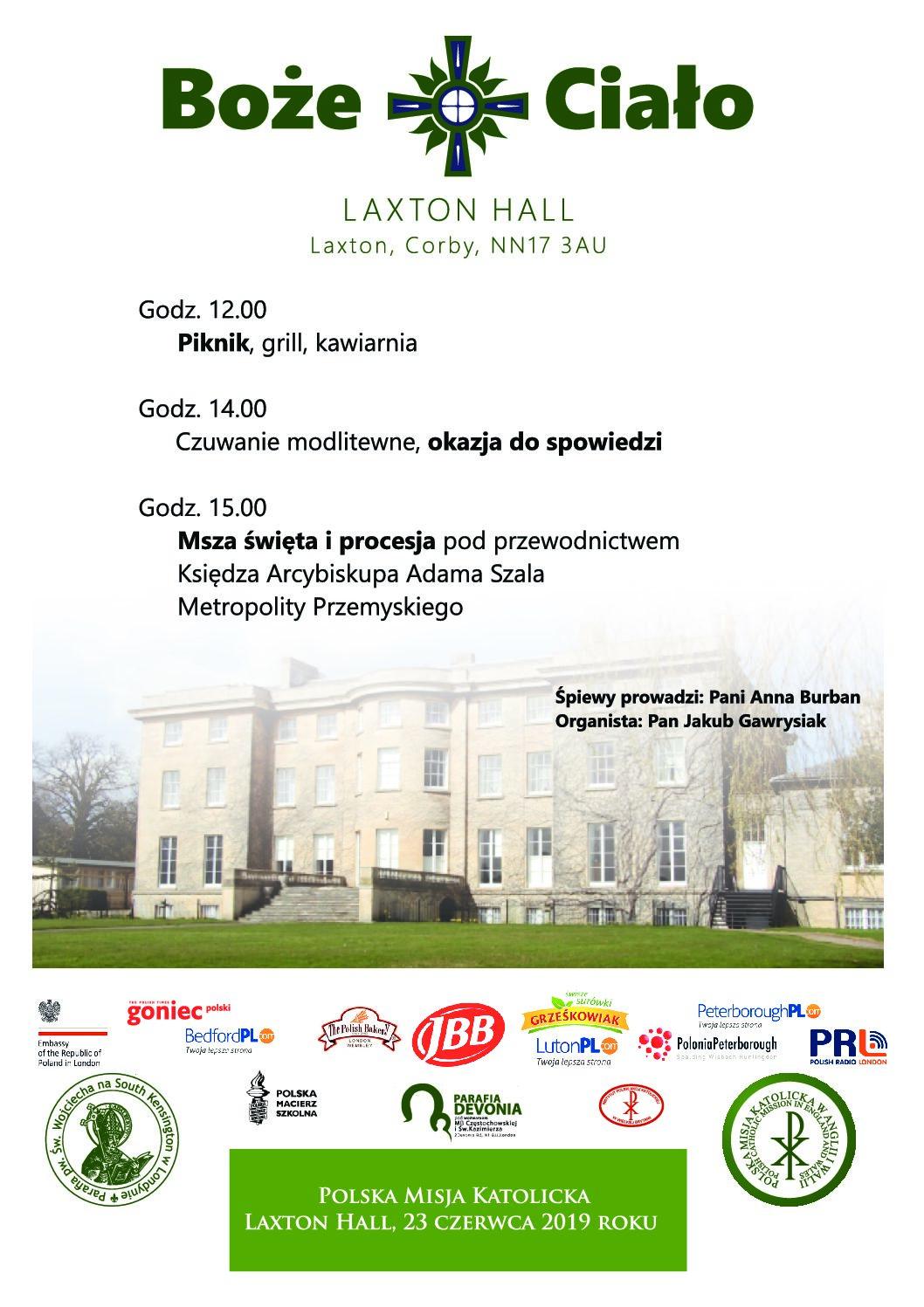 Boże Ciało w Laxton Hall