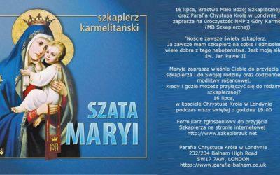 Przyjęcie Szkaplerza w naszej Parafii